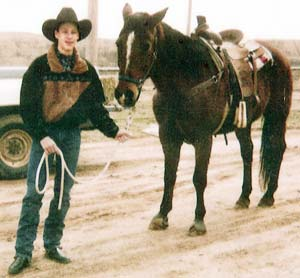 All Around Champion Cowboy Clayton Jones and his horse Old Bay at C-J Ranch in Randlett, Oklahoma